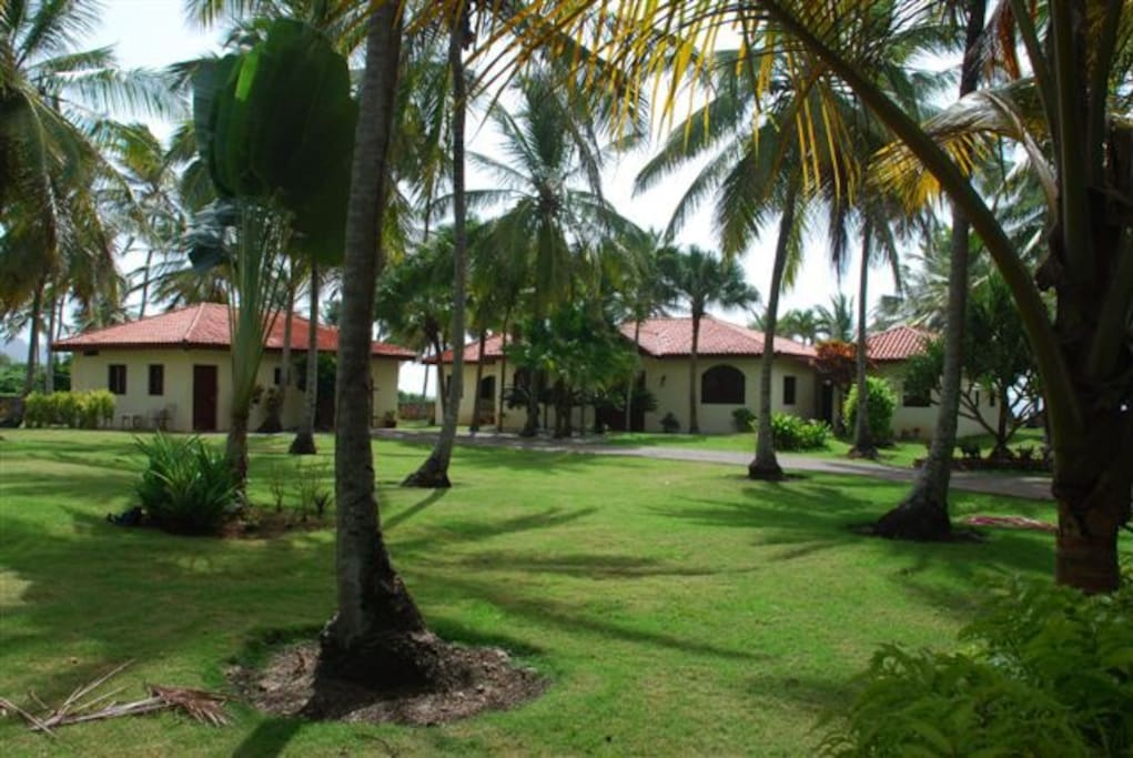 The villa is situated on a large piece of property and is very quiet and private.