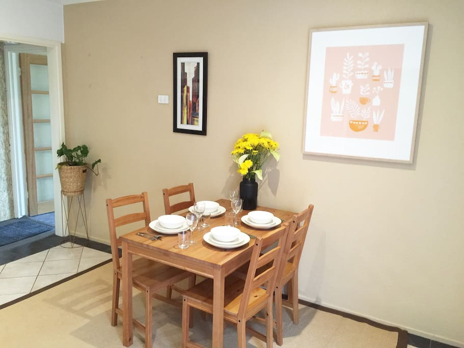 Dining within the kitchen area