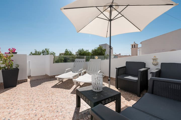 Rooftop w/Sea View - Terrace - Parking - Beach