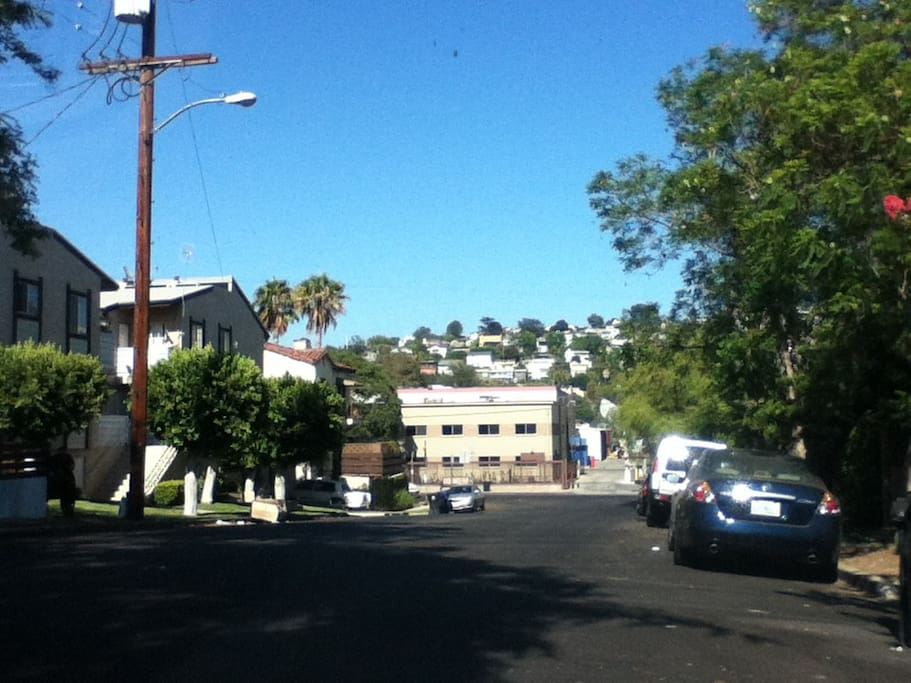 Street view. Wide streets. Plenty of parking.