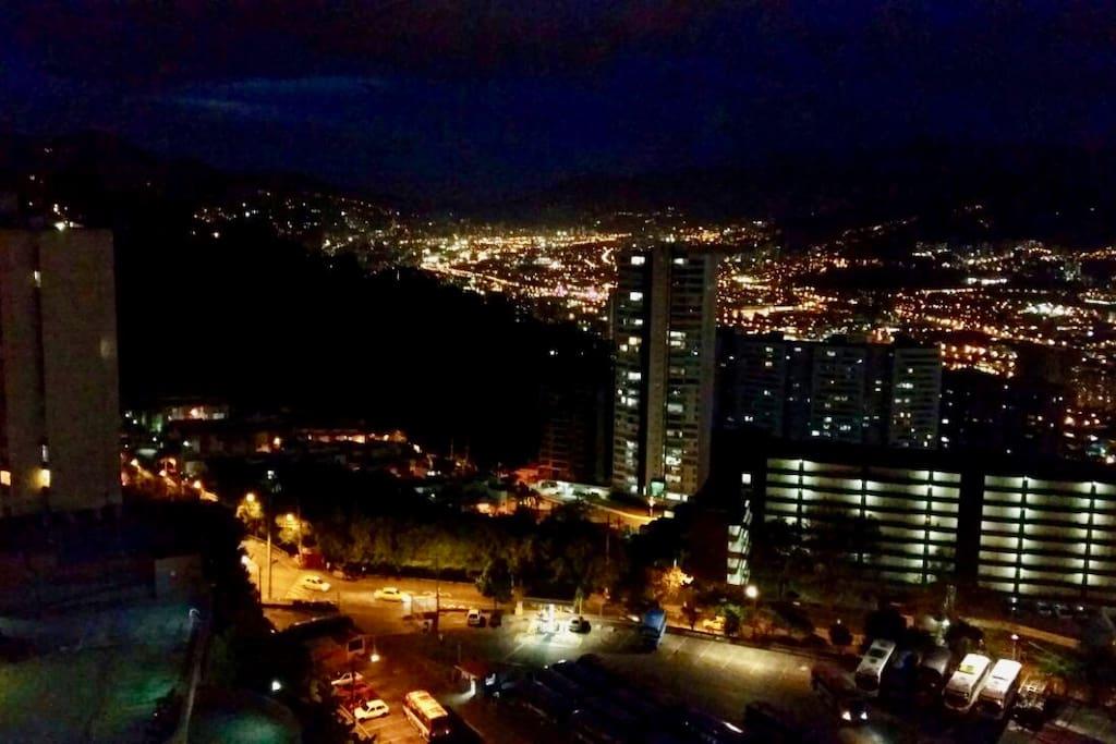 hermosa vista de noche.