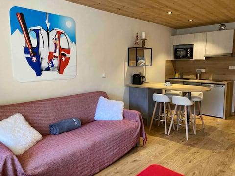 Studio Montagne-Chic & terrasse Sud, Val Claret