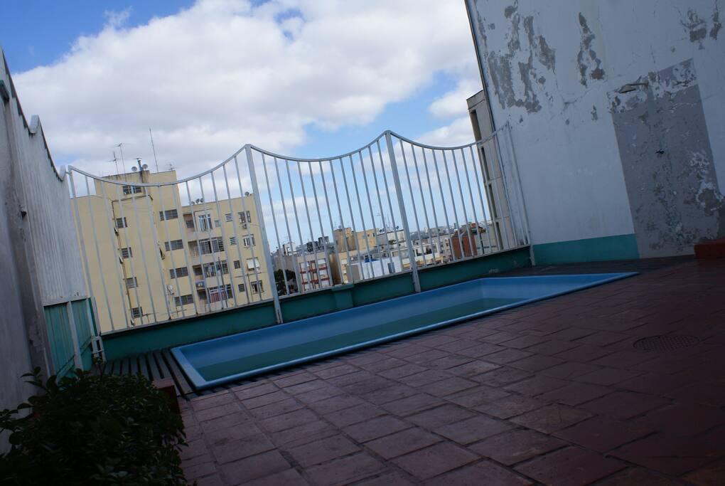 Piscina no décimo andar - terraço