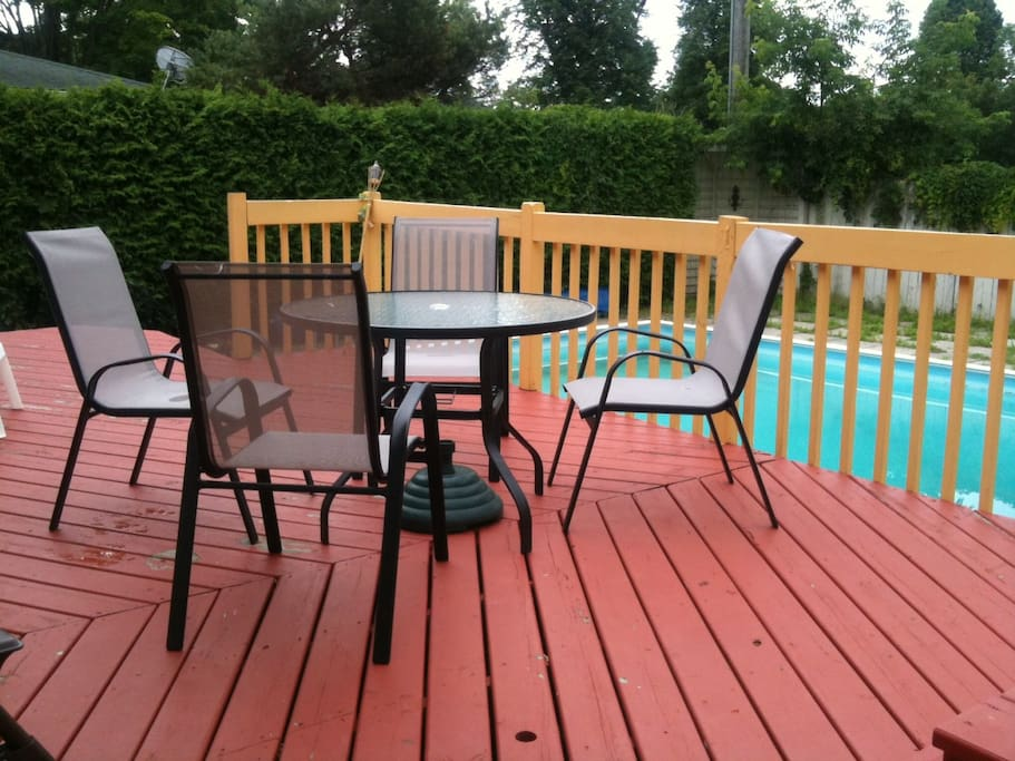 Inground Pool and Deck