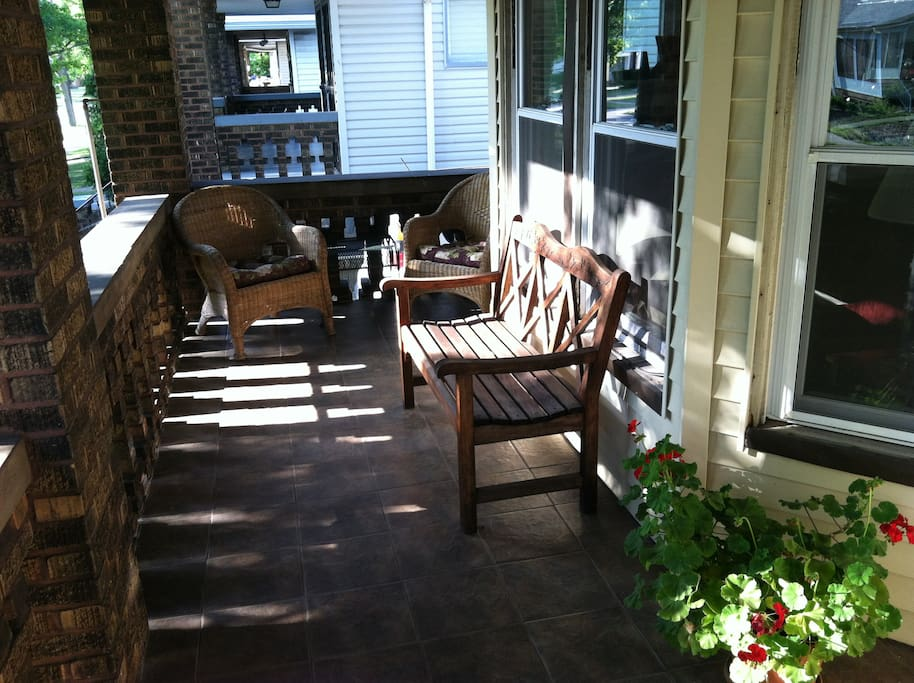 Great front porch for relaxing