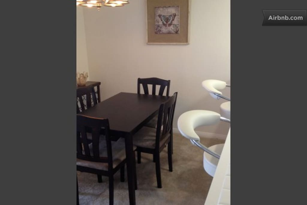 Dining area, help yourself to some wine
