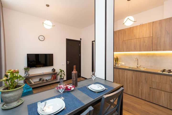 ❁Stylish 1BR. place for 3 near Fabrika❁