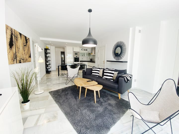 Modern, reformed apartment for seven persons