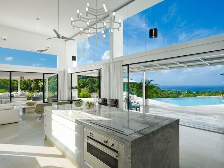 Luxury modern Caribbean villa
