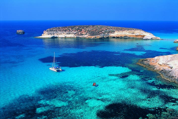 Casetta Paladini + giardino vicina spiaggia - Lampedusa - Casa
