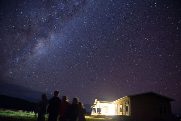 Star gazing on a clear night.