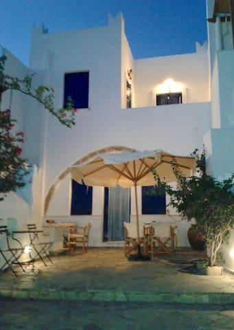 Traditional Two Story House in Galanado Naxos