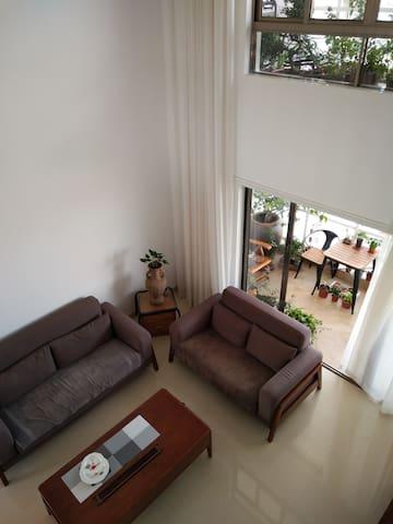 一楼客厅俯视之景。