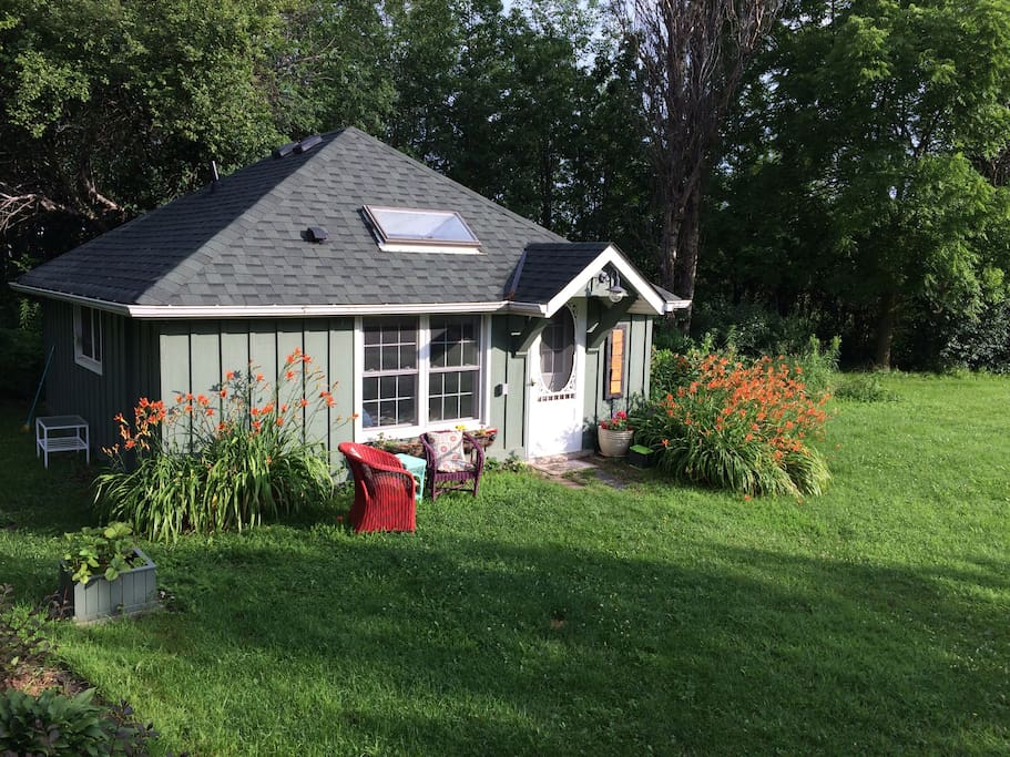 Your own cottage on a 3-acre heritage farm property.