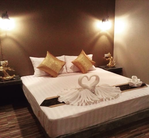 Browny  room A1. in flower  garden - Krabi  town - Appartamento