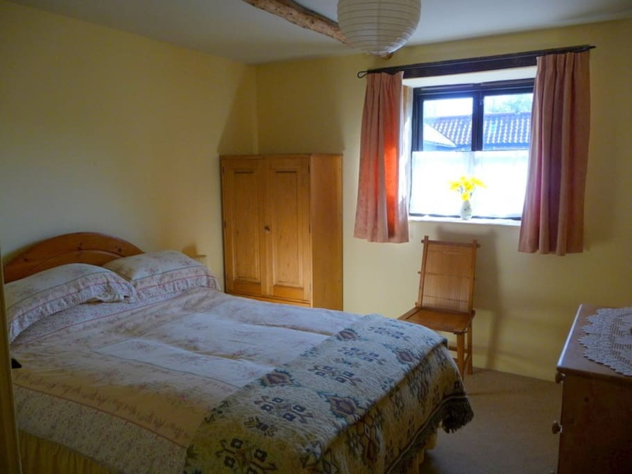 Double bedroom with sunny aspect