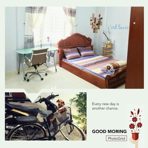 Lovely room with FREE motorbike :)
