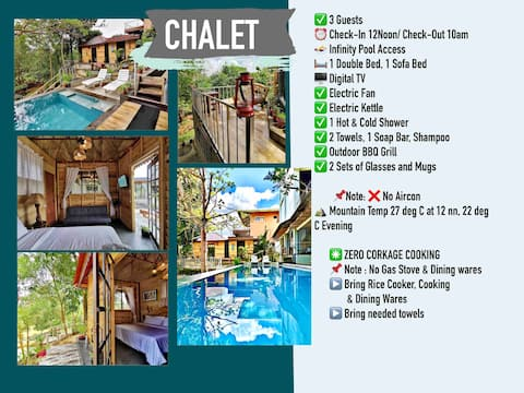 POOLSIDE CHALET, Don Salvador Benedicto 3 Guests