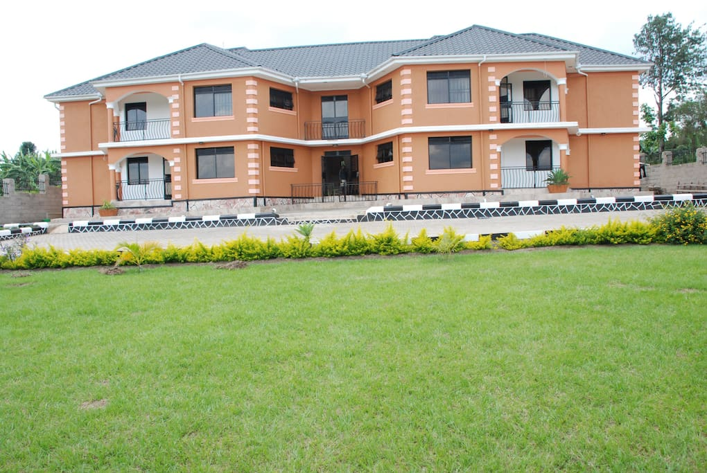 Four fully furnished apartments. Large garden, free parking space for 15 cars.