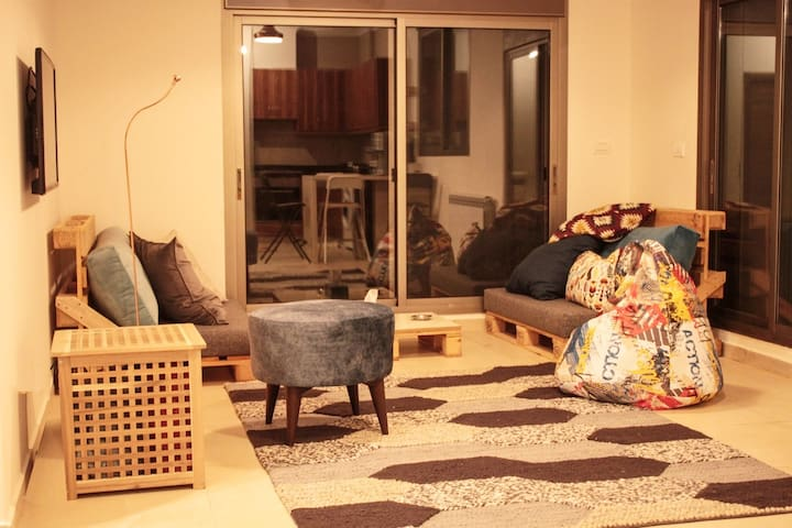 Let's Hug Our cosy living room