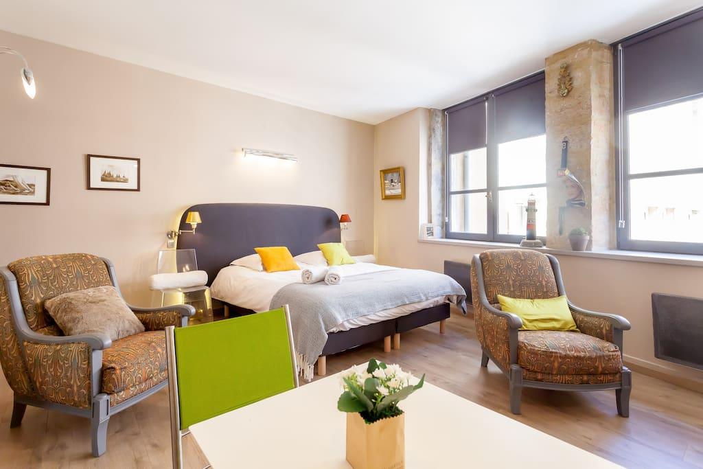 studio de charme lyon centre apartments for rent in lyon rhone alpes france. Black Bedroom Furniture Sets. Home Design Ideas