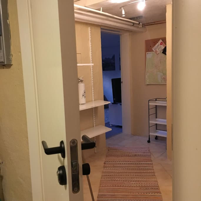 Entrance to the apartment in the basement