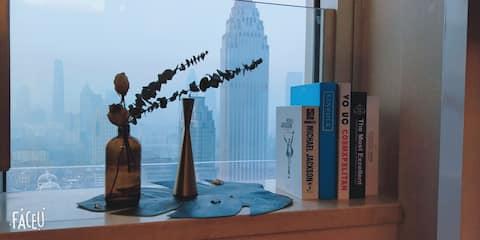 【Ningt Dream 】坐落五大道、小白楼商业区的法式ins公寓 法式文艺情怀