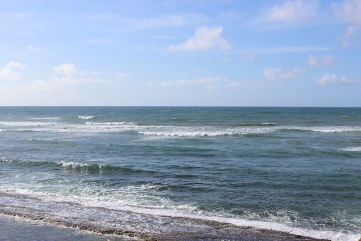 Oceanfnt, Steps to the surf, AC ,WiFi, Pool, Lanai
