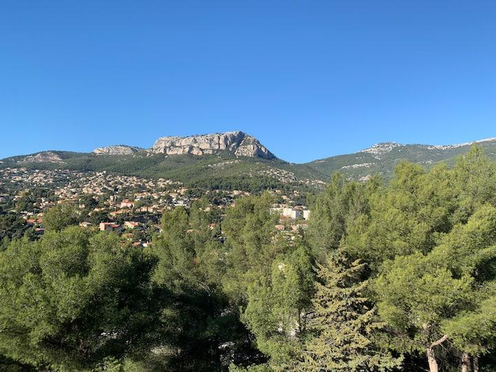 Apparement au pied du Mont-Faron