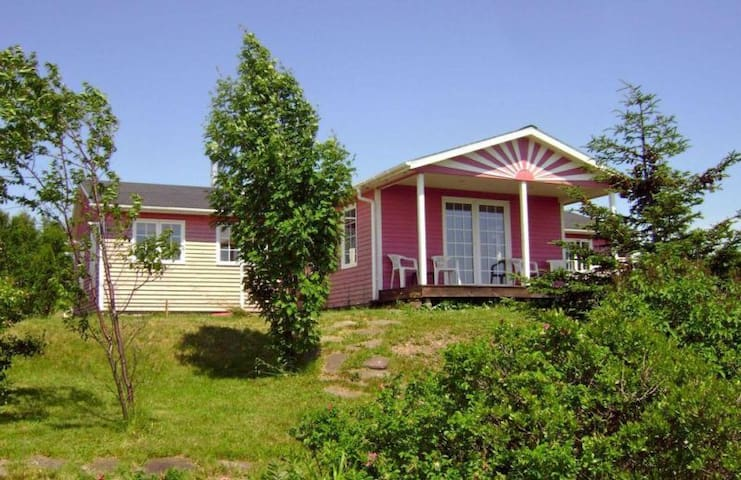 The Pink House in Cape Breton