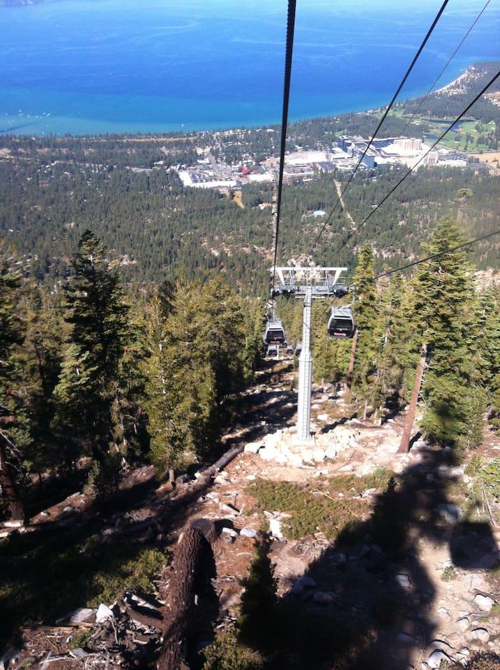 Heavenly Mountain Resort Gondola Ride. Summer view.