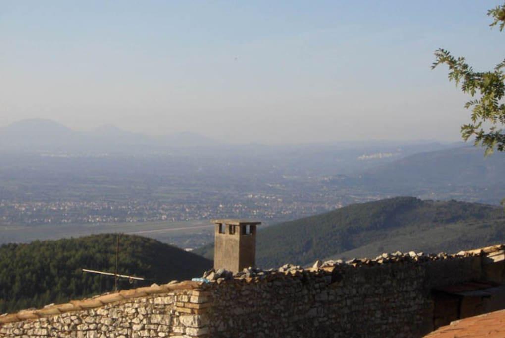 Il Panorama verso Assisi Spello Perugia