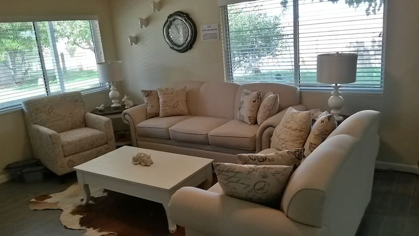 Living Room with extra comfortable furniture