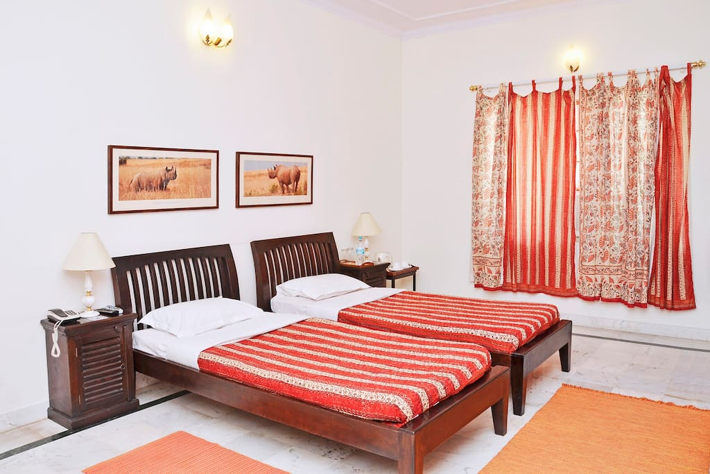 Red room at Himanshu&Deepti's Home