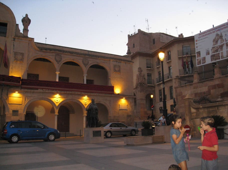 One of the many lively squares in Lorca.