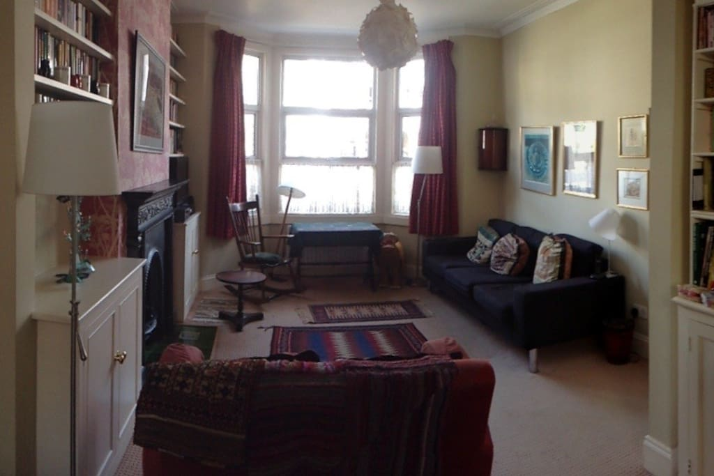 The same half of the sitting room, with the comfy sofa's.