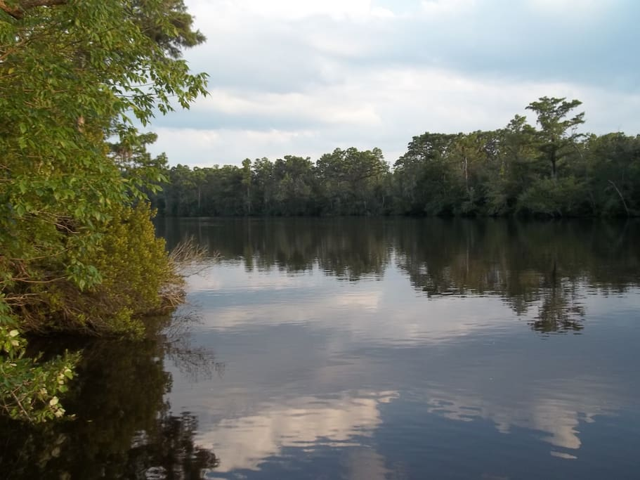 Tar River tributary and boat launch. Bring your boat or use our kayak & canoe.