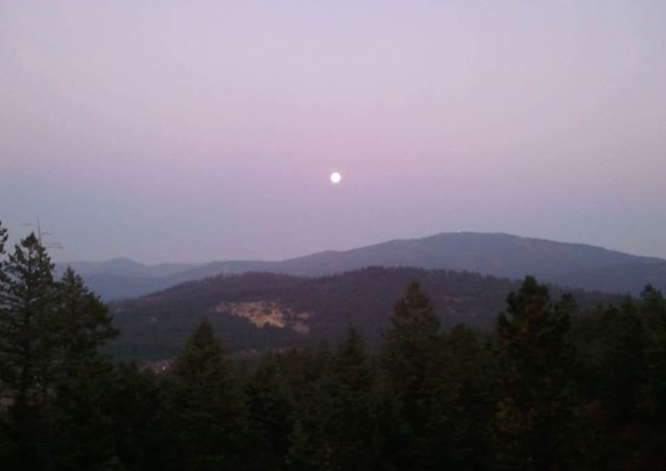 Moonrise over Mica Mountain.