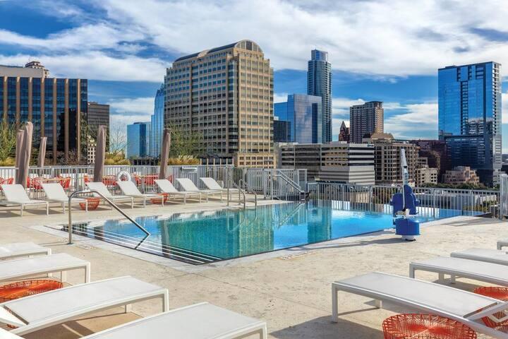 Walk to SXSW! Wyndham Austin Luxury 1BR Suite - #9
