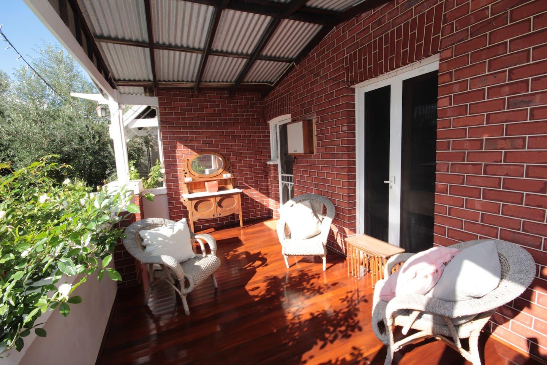 A sunny verandah for evening drinks