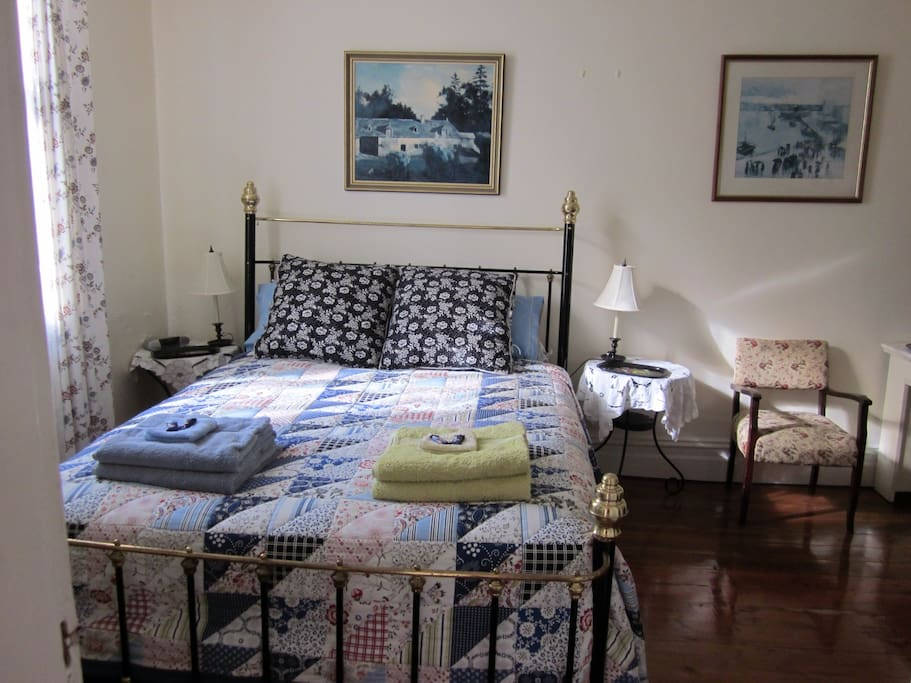 The main bedroom with queen size bed
