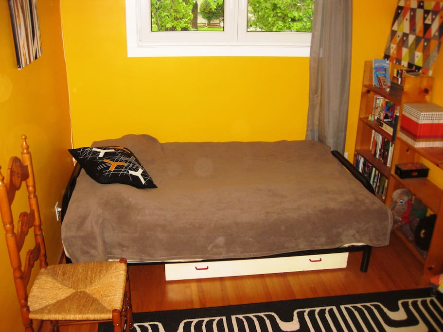 Double bed in private room..