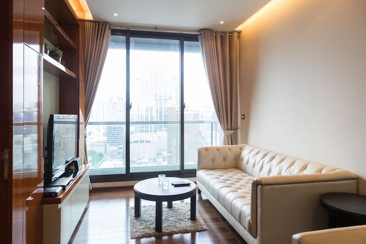 luxury condo @ Sukhumvit near BTS - Bangkok - Appartement en résidence