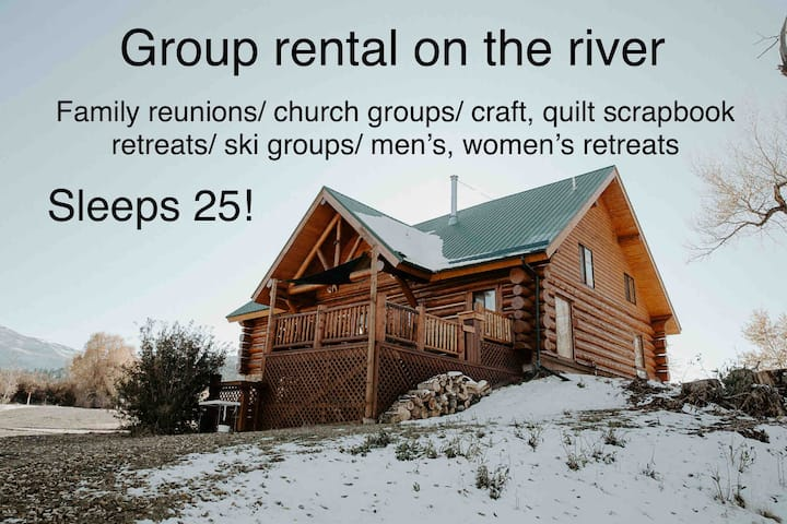 Rio River Retreat- Group rental on the river