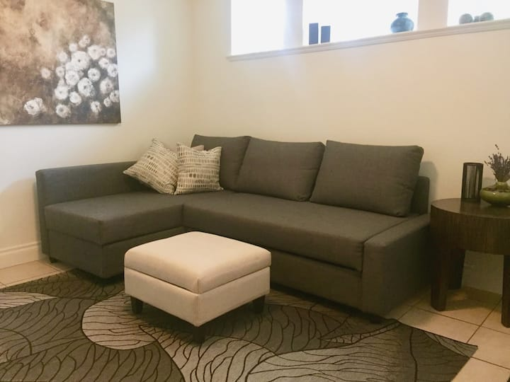 Downtown, private suite, with separate entrance