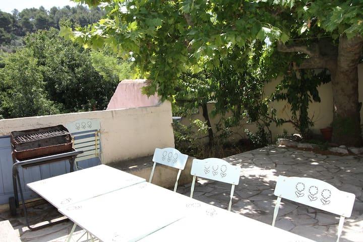 Petite maisonnette avec sa terrasse privée