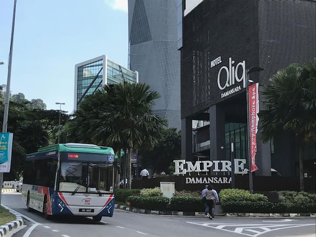Can easily catch the MRT feeder bus from Empire Damansara to Mutiara Damansara MRT Station