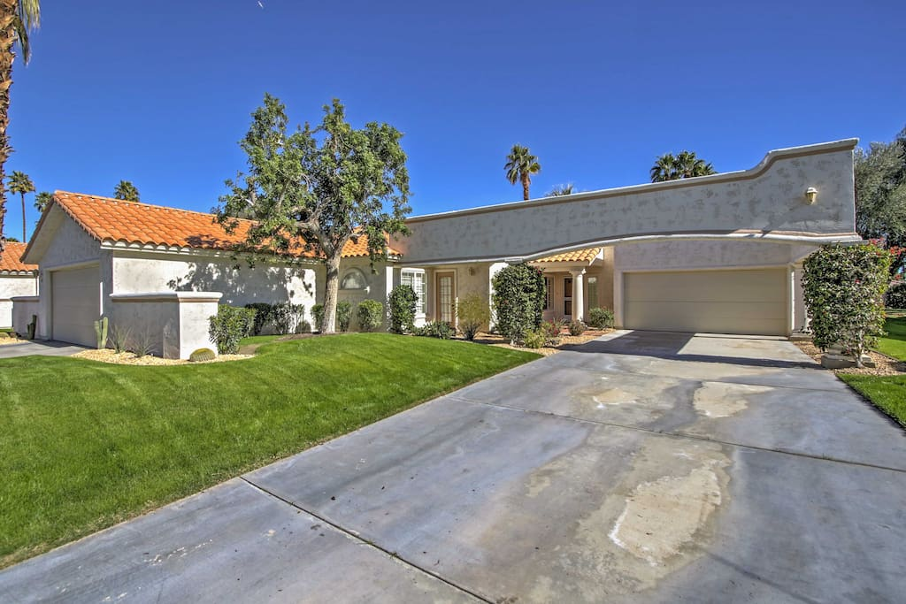 The home is located right on a golf course!