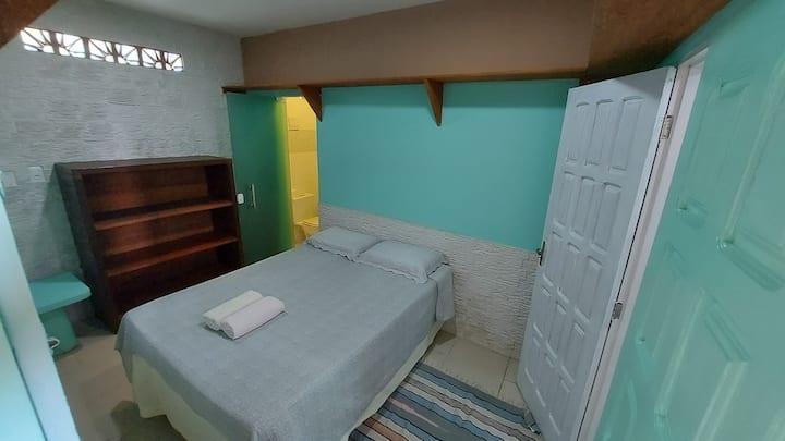 quarto de casal na pousada Casas nas arvores