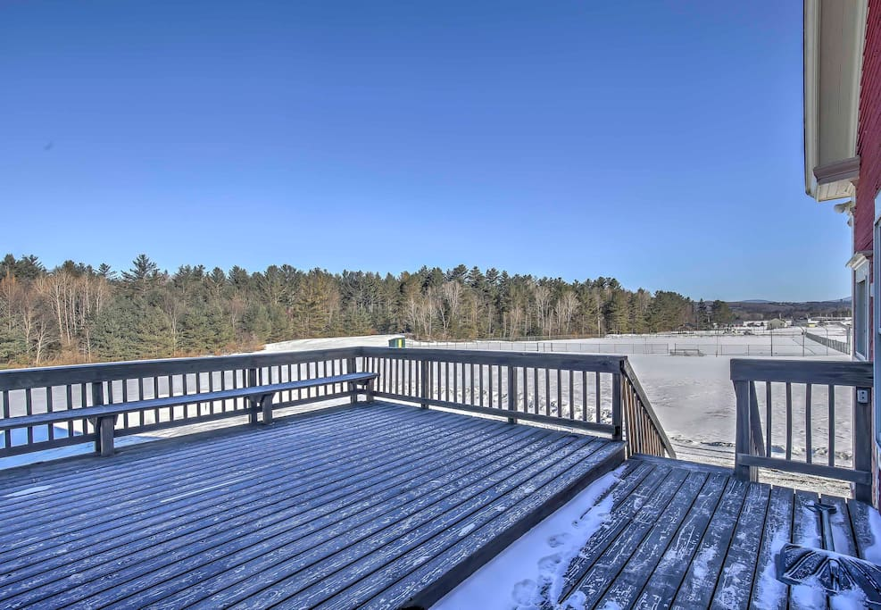 The deck is the perfect place to relax outside and enjoy the surrounding beauty.